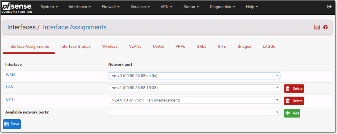 PKS NSX-T Home Lab – Part 4: Configuring pfSense Router